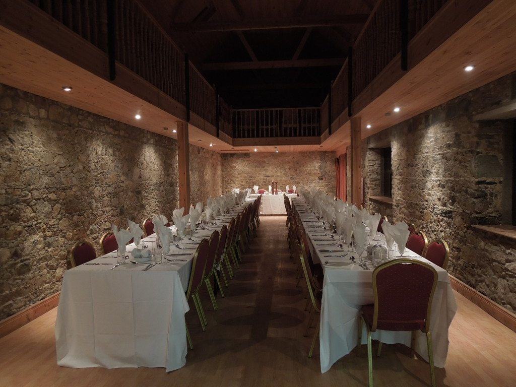 Castle private hire dining room